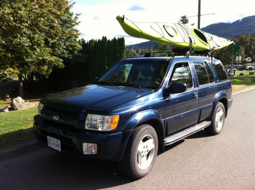 Kayak on car