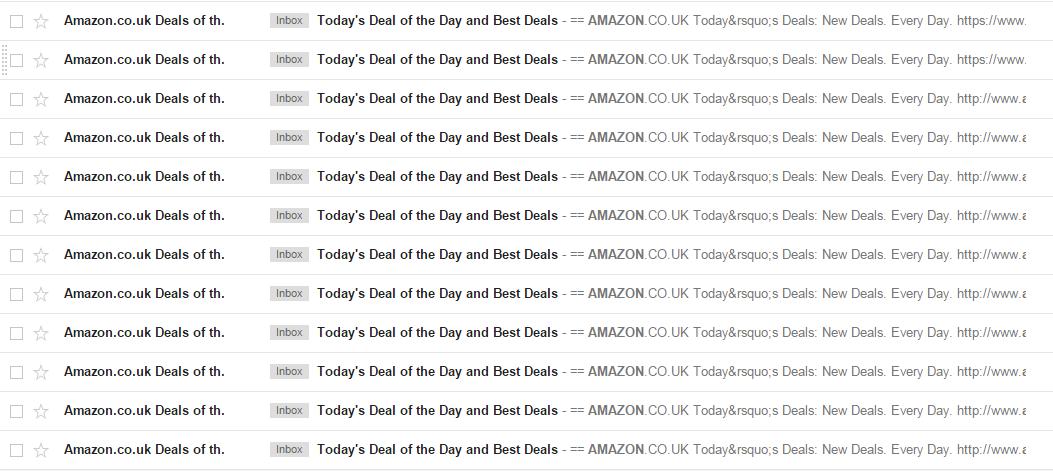 Amazon subject lines
