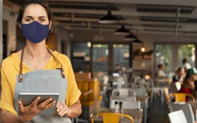 Masked woman store